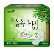 Прокладки гигиенические с эвкалиптом YEJIMIN Tencel sanitary pad small 16шт малые: фото